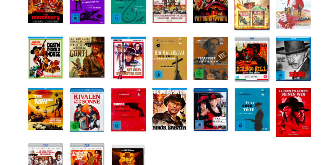 spaghetti western dvds blurays releases